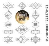 set of minimal monochrome... | Shutterstock .eps vector #315570416