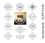 set of minimal monochrome... | Shutterstock .eps vector #315571130