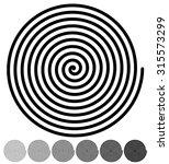 Spiral Backgrounds. Set Of 4...