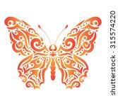 vector gradient butterfly... | Shutterstock .eps vector #315574220