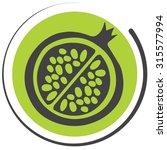bio pomegranate icon | Shutterstock .eps vector #315577994