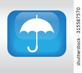 umbrella icon. eps 10.  blue...