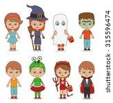 halloween party design  vector... | Shutterstock .eps vector #315596474