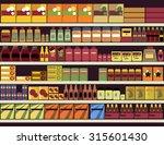 grocery store shelves filled... | Shutterstock .eps vector #315601430