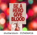 Be A Hero Give Blood Cardboard...