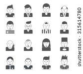 man faces emoticon collection... | Shutterstock . vector #315614780