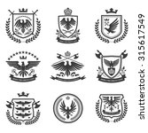 eagle heraldry coat of arms... | Shutterstock . vector #315617549