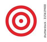 target for archery. shooting... | Shutterstock .eps vector #315619400