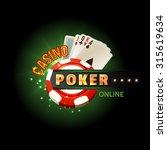 casino online poker traditional ... | Shutterstock . vector #315619634