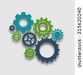 cog wheel colored composition... | Shutterstock . vector #315620240