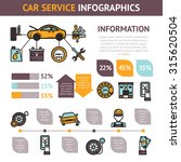 car service infographics set... | Shutterstock . vector #315620504