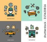 auto service design concept set ... | Shutterstock . vector #315620816