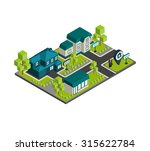 isometric town concept with 3d...   Shutterstock . vector #315622784