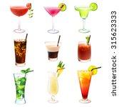 cocktail realistic decorative... | Shutterstock . vector #315623333
