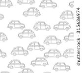 simple seamless pattern cars.... | Shutterstock .eps vector #315636974