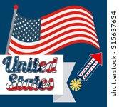 united states emblem design ... | Shutterstock .eps vector #315637634