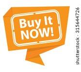 yellow buy it now  paper... | Shutterstock . vector #315644726
