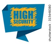 blue high security paper... | Shutterstock . vector #315648380
