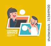 customer service girl   vector... | Shutterstock .eps vector #315649430