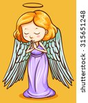 Angel With Wings Praying...