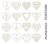 geometric heart shapes... | Shutterstock .eps vector #315651686
