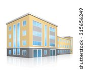 office building with entrance... | Shutterstock .eps vector #315656249