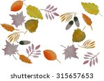 watercolor autumn frame.... | Shutterstock . vector #315657653