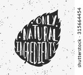 vector hand drawn typographic... | Shutterstock .eps vector #315664454