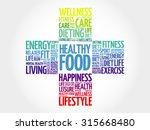 healthy food word cloud  health ... | Shutterstock .eps vector #315668480