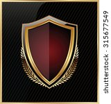 shield with a golden frame | Shutterstock .eps vector #315677549