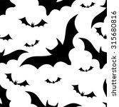 halloween bats seamless pattern ... | Shutterstock .eps vector #315680816