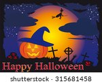 halloween background | Shutterstock . vector #315681458