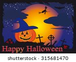 halloween background | Shutterstock . vector #315681470