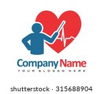 doctor love presentation... | Shutterstock .eps vector #315688904