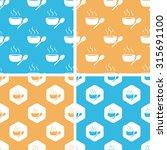 hot soup pattern set  simple...