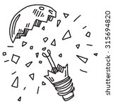broken bulb | Shutterstock .eps vector #315694820