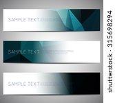 web banner modern low polygon... | Shutterstock .eps vector #315698294