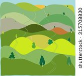 landscape with hills   Shutterstock .eps vector #315708830
