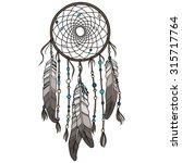 native american indian dream... | Shutterstock .eps vector #315717764