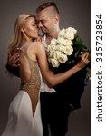 beautiful wedding couple.... | Shutterstock . vector #315723854