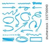 group of vector blue arrows | Shutterstock .eps vector #315730040