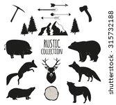 hand drawn wilderness  animals... | Shutterstock .eps vector #315732188