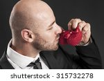 happy father kissing little... | Shutterstock . vector #315732278