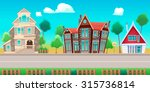road with houses. the sides... | Shutterstock .eps vector #315736814
