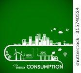 ecology infographics   city... | Shutterstock .eps vector #315740534