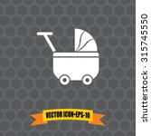 vector icon of baby cart pram... | Shutterstock .eps vector #315745550
