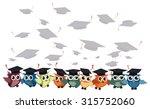 graduation cap and owl vector... | Shutterstock .eps vector #315752060