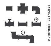 pipe fittings vector icons set. ... | Shutterstock .eps vector #315753596