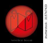 pointer map | Shutterstock .eps vector #315767423