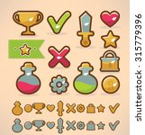 game design elements  icons and ...